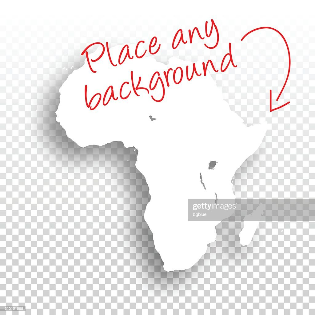 Africa Map for design - Blank Background : stock illustration