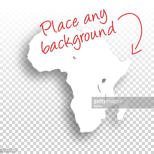 africa map for design - blank background - ghana stock illustrations, clip art, cartoons, & icons