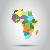 Africa map icon. Business cartography concept Africa pictogram. Vector illustration.