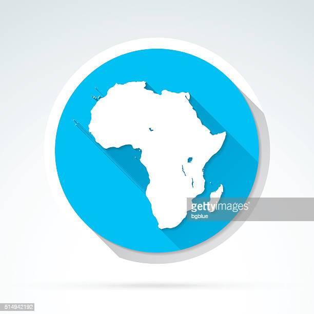 africa map icon, flat design, long shadow - zimbabwe stock illustrations, clip art, cartoons, & icons