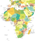Africa - map - illustration
