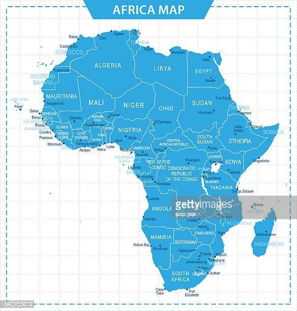 africa map - illustration - mali stock illustrations, clip art, cartoons, & icons