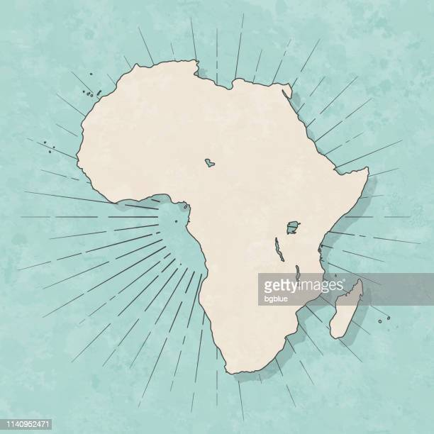 africa map in retro vintage style - old textured paper - french overseas territory stock illustrations