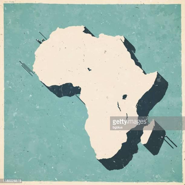 ilustrações, clipart, desenhos animados e ícones de áfrica mapa em estilo vintage retro - papel texturizado velho - cabo verde