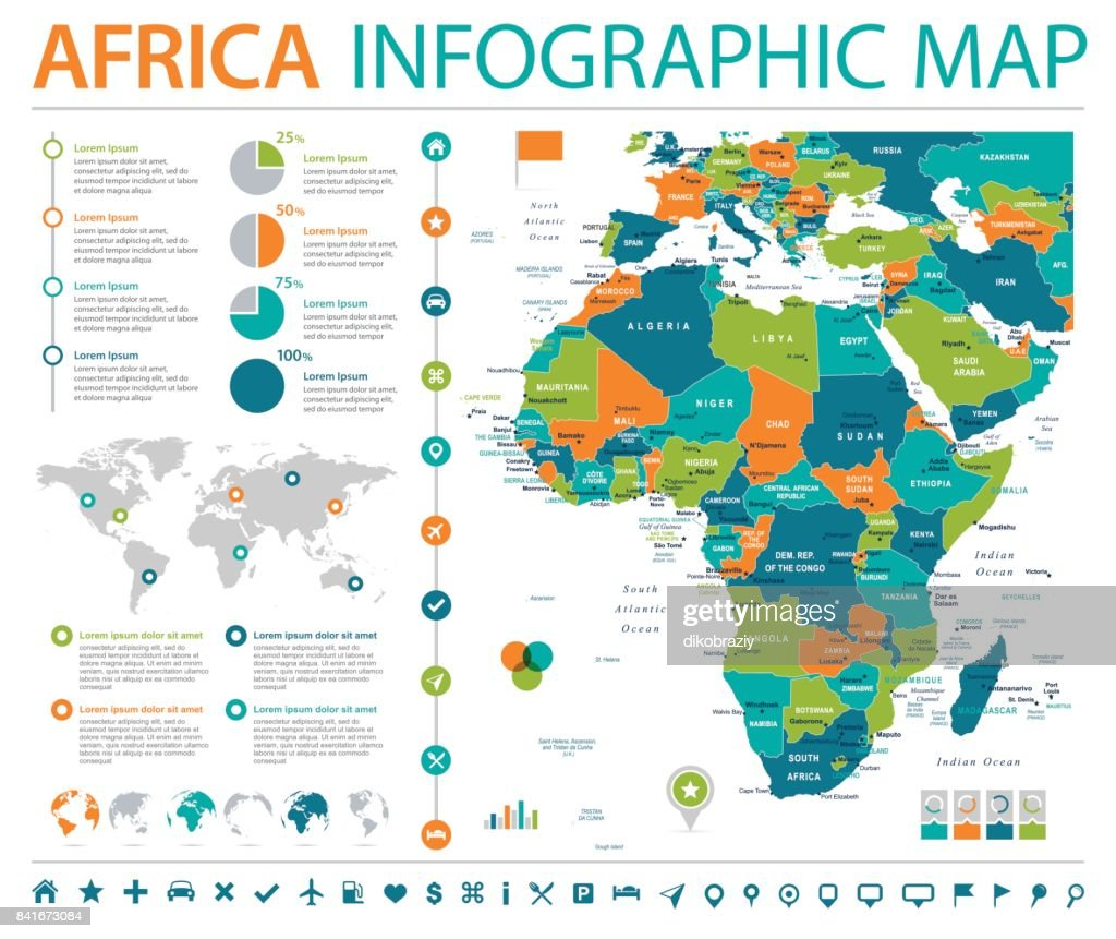 Africa Map - Info Graphic Vector Illustration