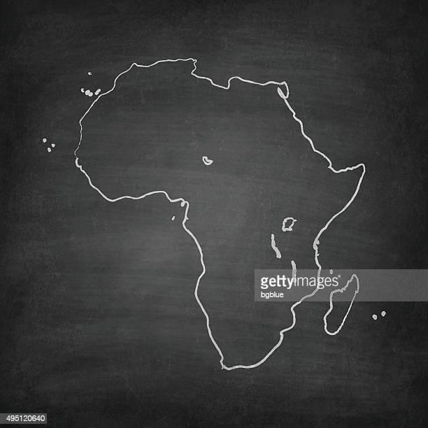 ilustrações, clipart, desenhos animados e ícones de áfrica mapa do quadro-negro, quadro-negro - libéria