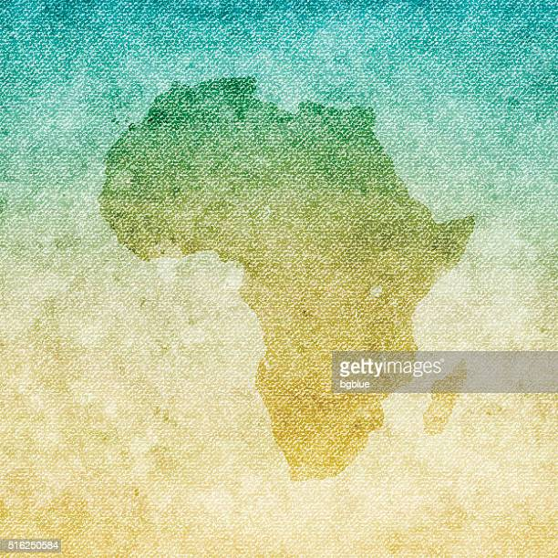 Africa Map on grunge Canvas Background
