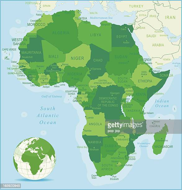africa map - west africa stock illustrations, clip art, cartoons, & icons