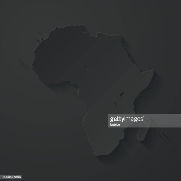 africa map with paper cut effect on black background - french overseas territory stock illustrations