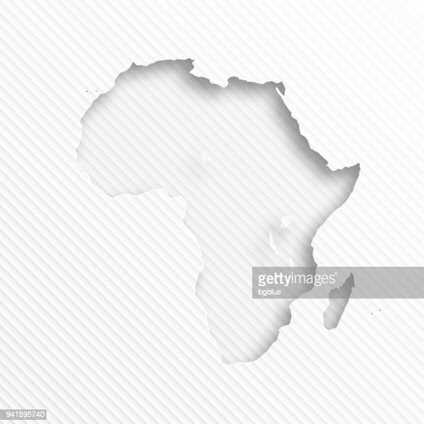 ilustrações, clipart, desenhos animados e ícones de mapa de áfrica com corte de papel no fundo abstrato branco - cabo verde
