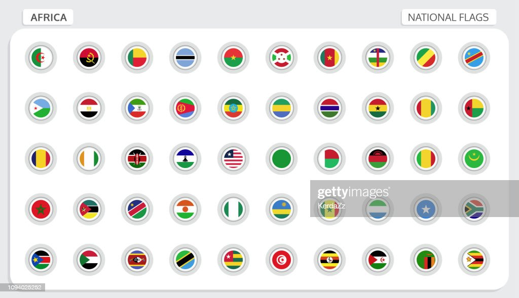 Africa national flags