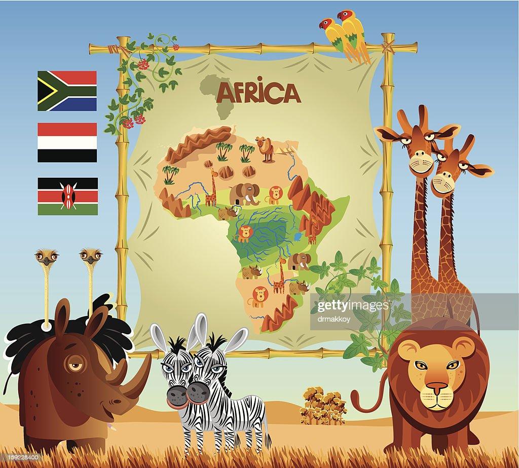 Africa Panorama : Vector Art