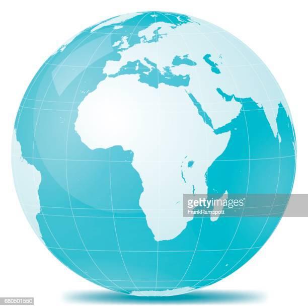 Afrika-Erde blau weiss