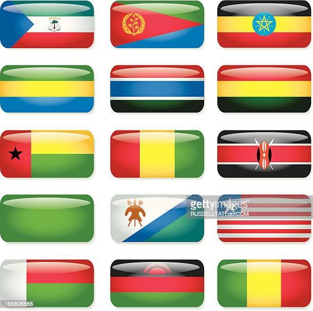 Afrika (E-M) rechteckige Flags