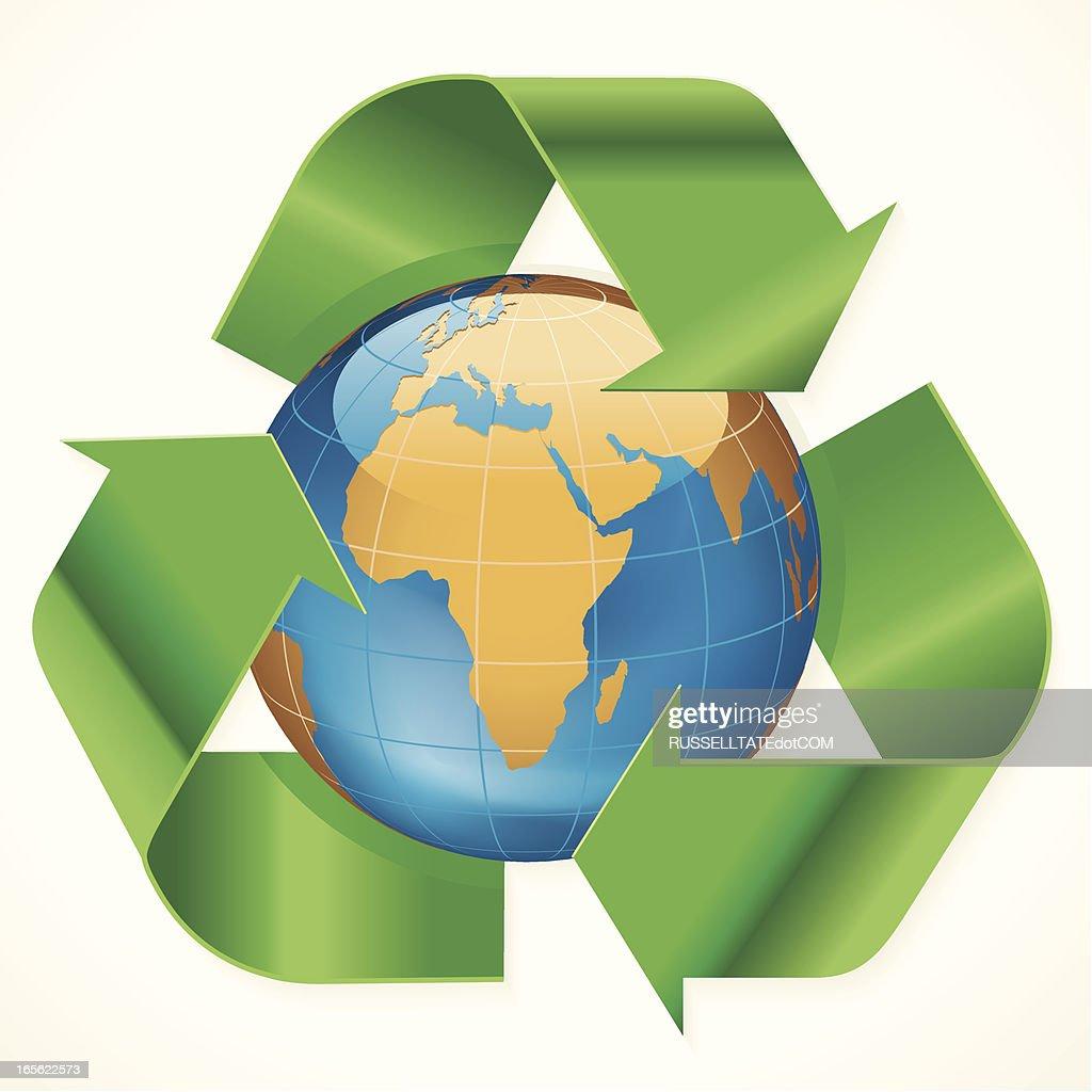 Afrika Recycling-Symbol : Stock-Illustration