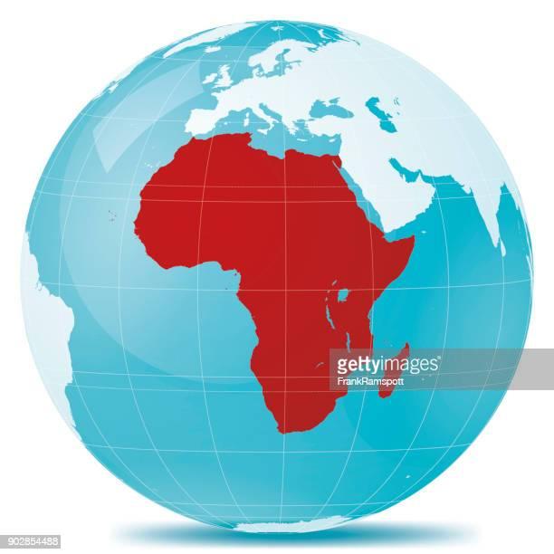 Afrika-rot hervorgehoben-Erde blau weiss