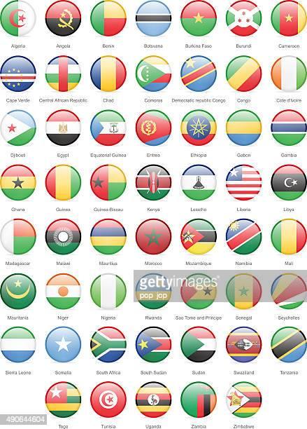 ilustrações, clipart, desenhos animados e ícones de áfrica-rodada bandeiras-ilustração - bandeira sul africana
