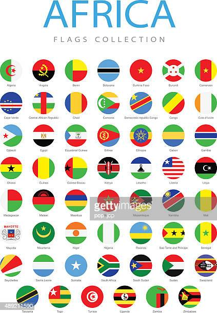 Africa - Rounded Flags - Illustration