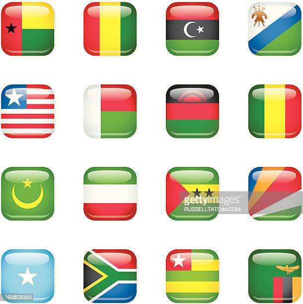 Afrika square Flags [ ein ]