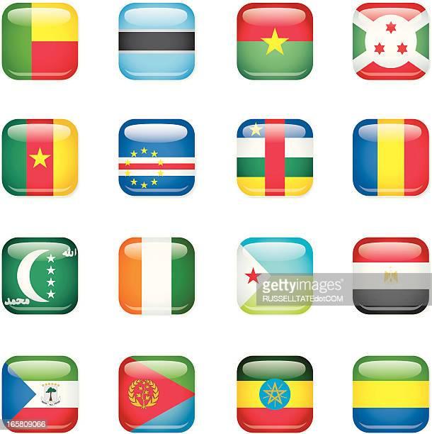 Afrika square Flags [ B ]