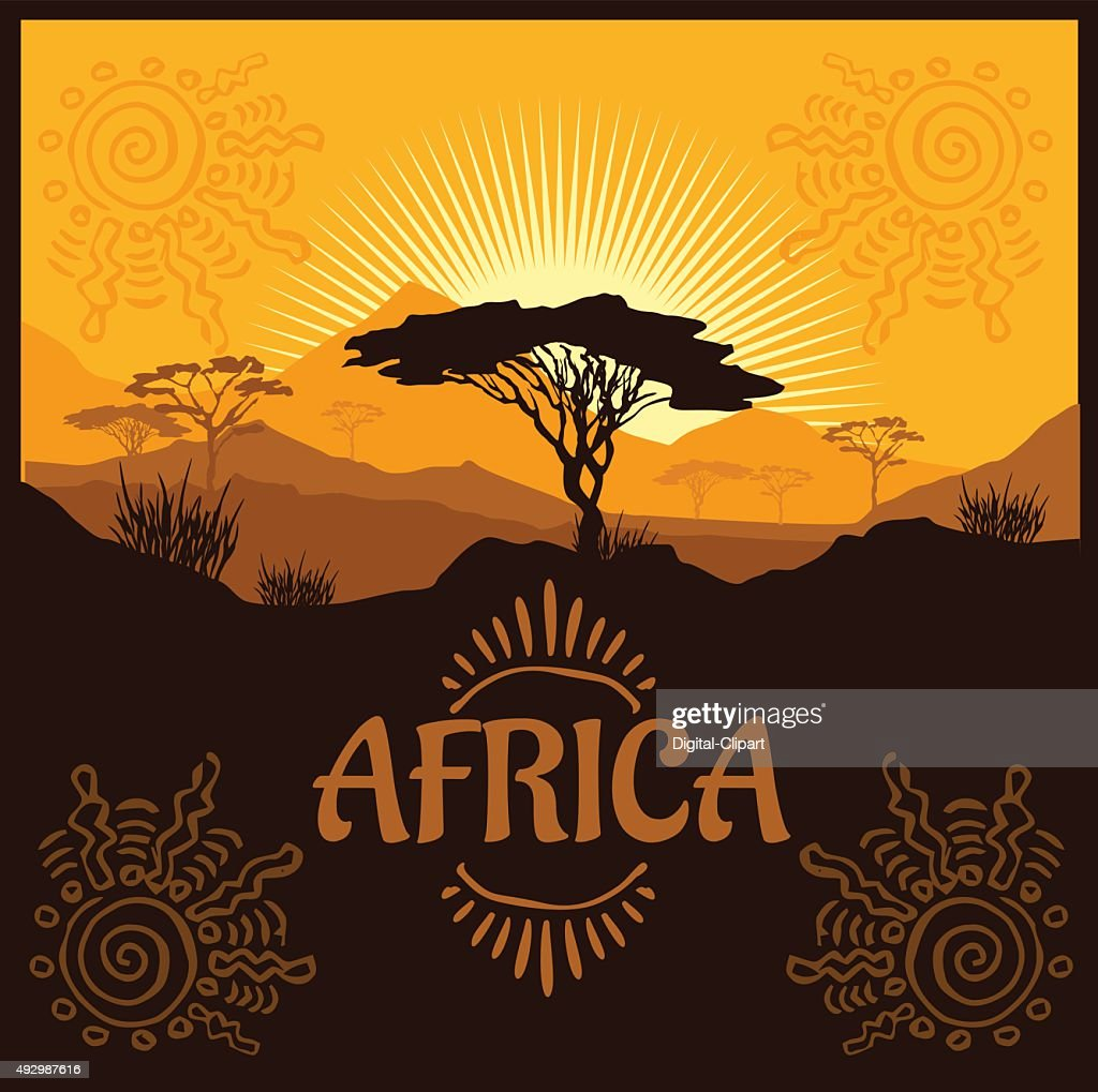 Africa - vector poster