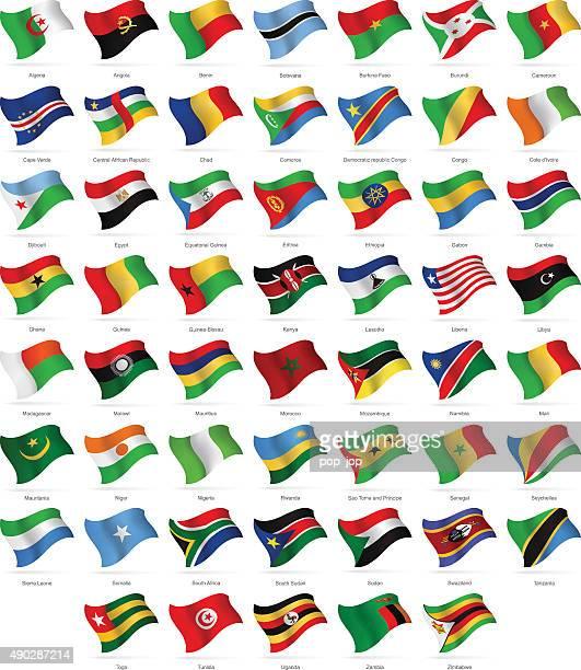 ilustrações, clipart, desenhos animados e ícones de áfrica-agitando bandeiras-ilustração - libéria