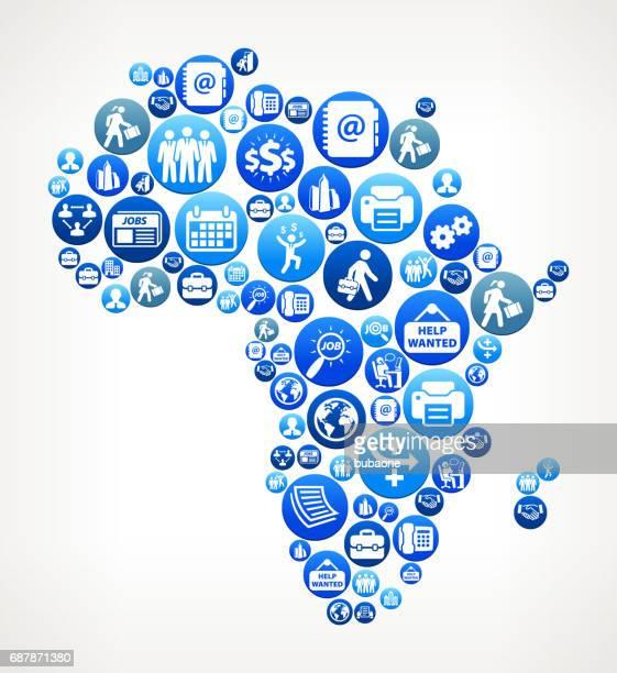 illustrations, cliparts, dessins animés et icônes de l'afrique et le travail vector bleu bouton pattern - femme africaine