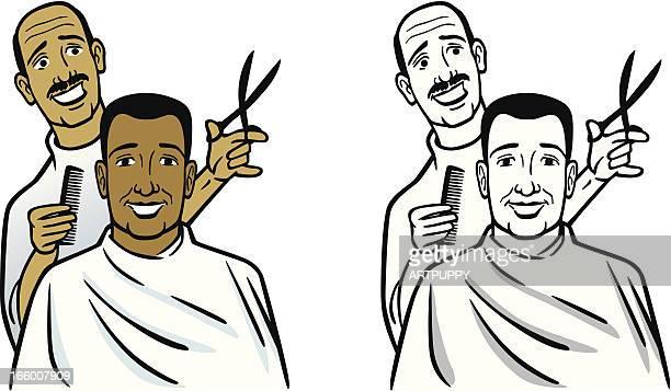 ilustrações de stock, clip art, desenhos animados e ícones de americano barber - cortar cabelo
