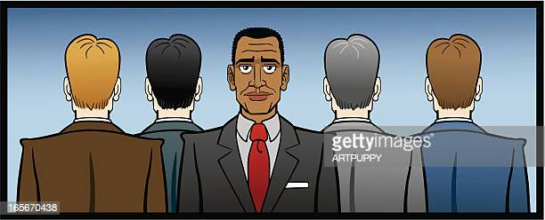 african american businessman - prejudice stock illustrations, clip art, cartoons, & icons