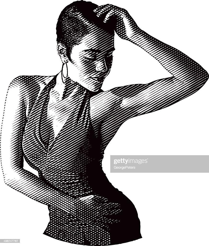 African American, Hispanic Woman Salsa Dancing