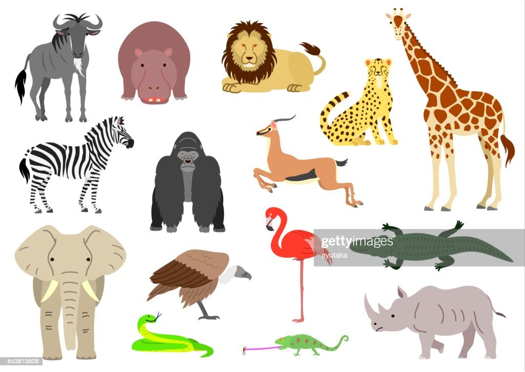African animal element set