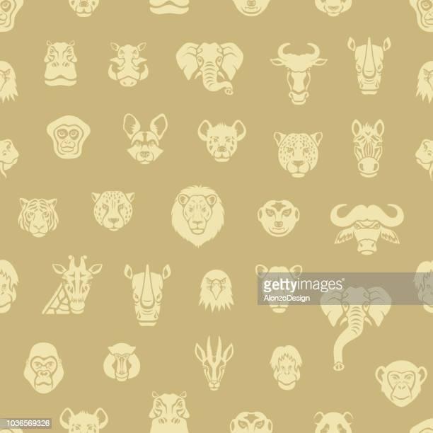 African Animal Seamless Pattern