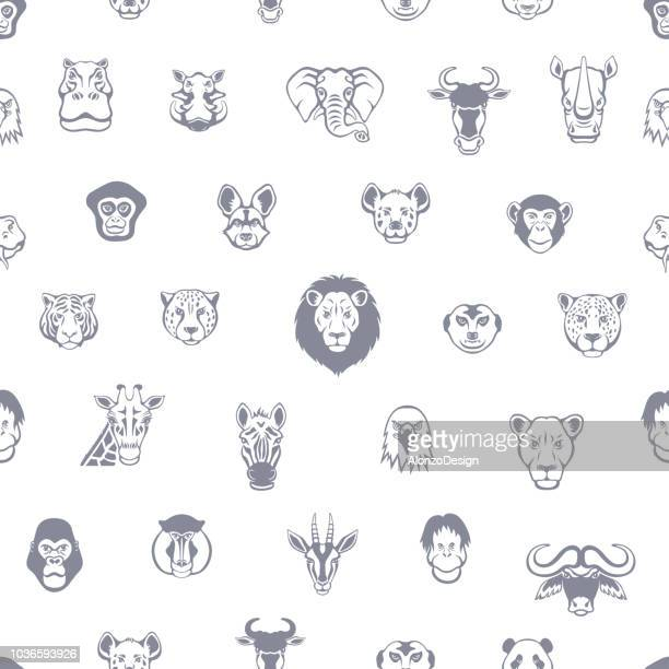 African Animal Seamless Pattern
