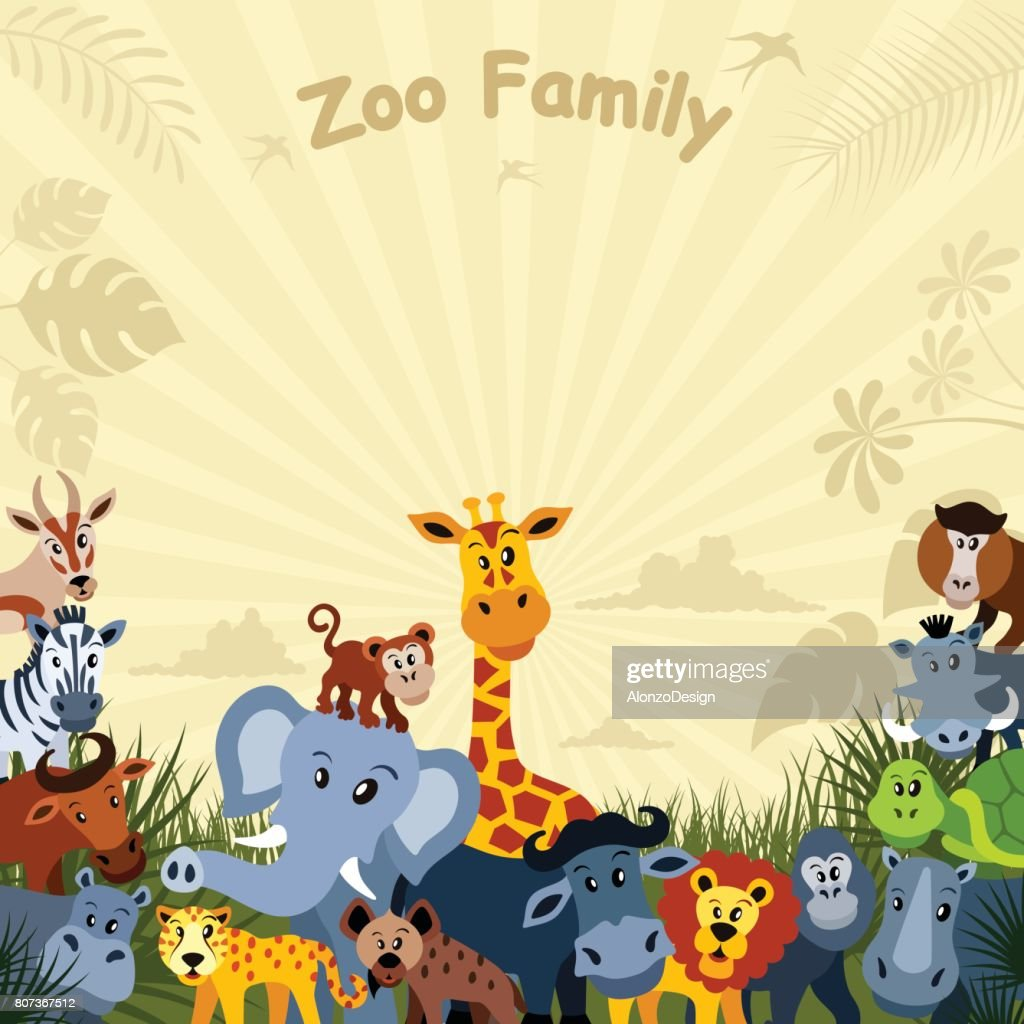 African Animals Characters