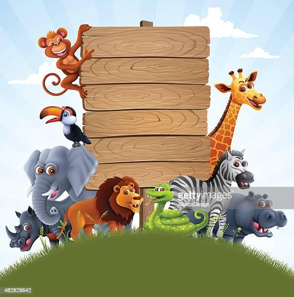 african animals family - savannah stock illustrations, clip art, cartoons, & icons