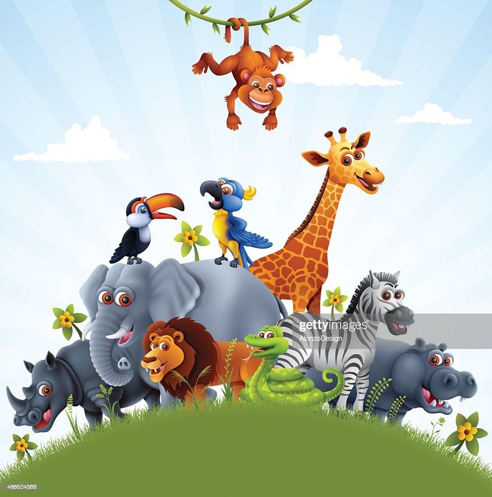 Los animales africano : Ilustración de stock