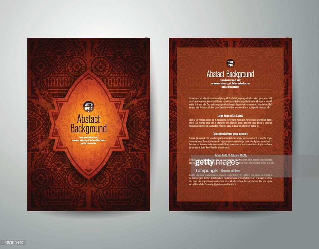African art brochure flyer design vector.