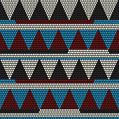 African bead motif. Abstract seamless pattern.