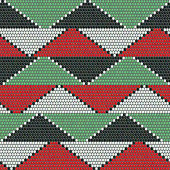 African bead ornaments. Abstract seamless pattern.