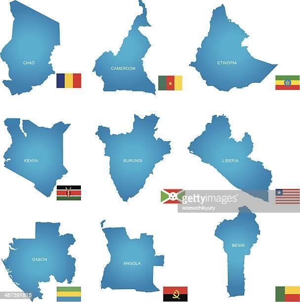Afrikanischen Länder Vektor