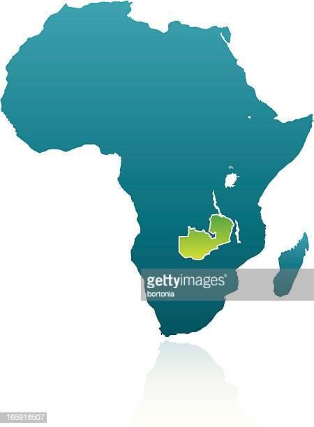 アフリカ諸国。ザンビア - ザンビア点のイラスト素材/クリップアート素材/マンガ素材/アイコン素材