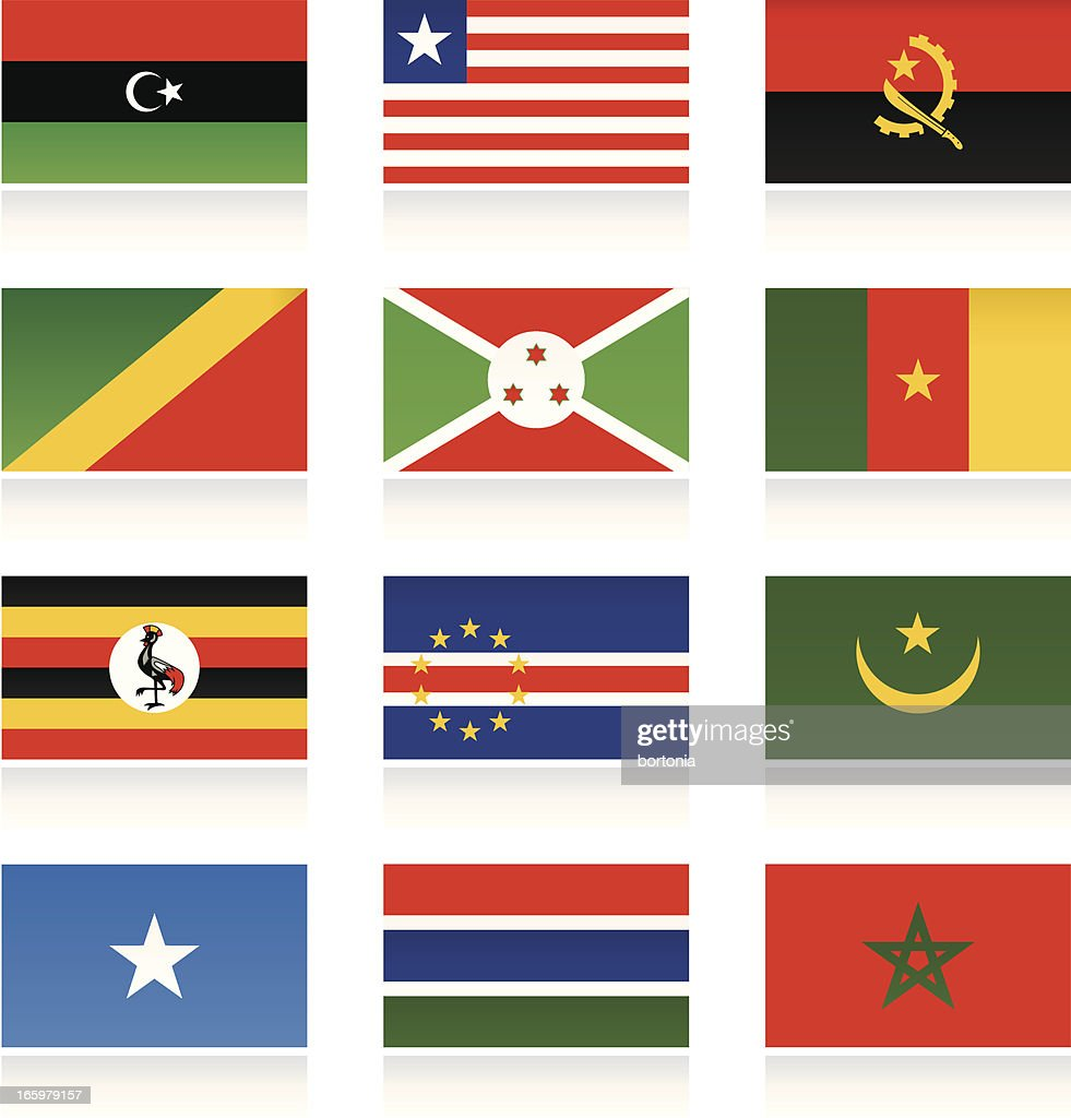 african country flags vector art getty images