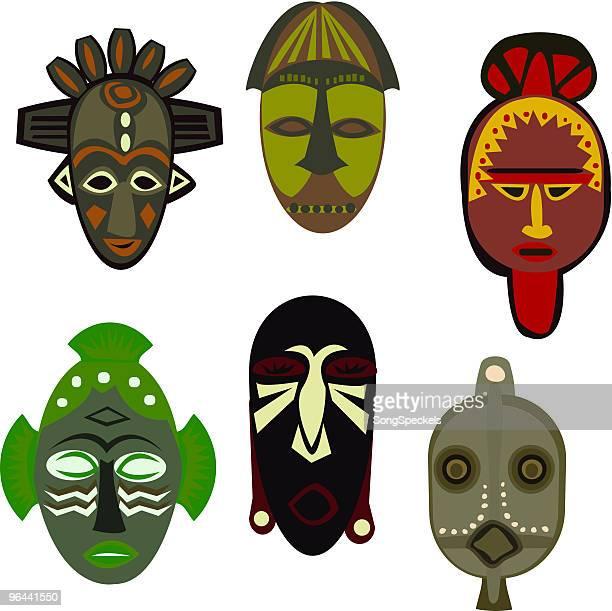 illustrations, cliparts, dessins animés et icônes de afrique masques culturel - culture indigène