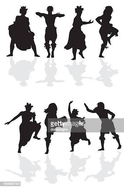 illustrations, cliparts, dessins animés et icônes de danseurs silhouette de l'afrique - femme africaine