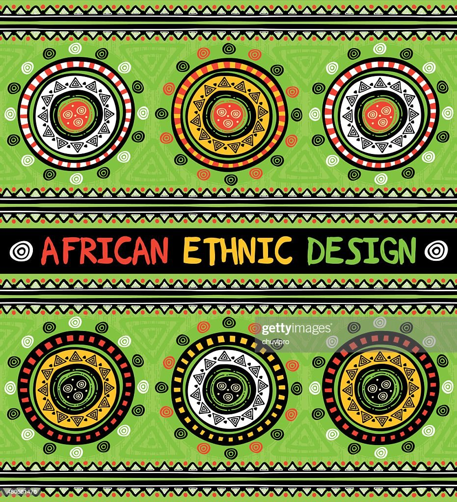 African ethnic  design with abstract geometric ornament