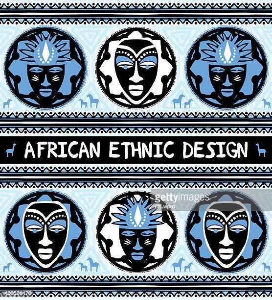 illustrations, cliparts, dessins animés et icônes de style ethnique africain avec des masques - masque africain
