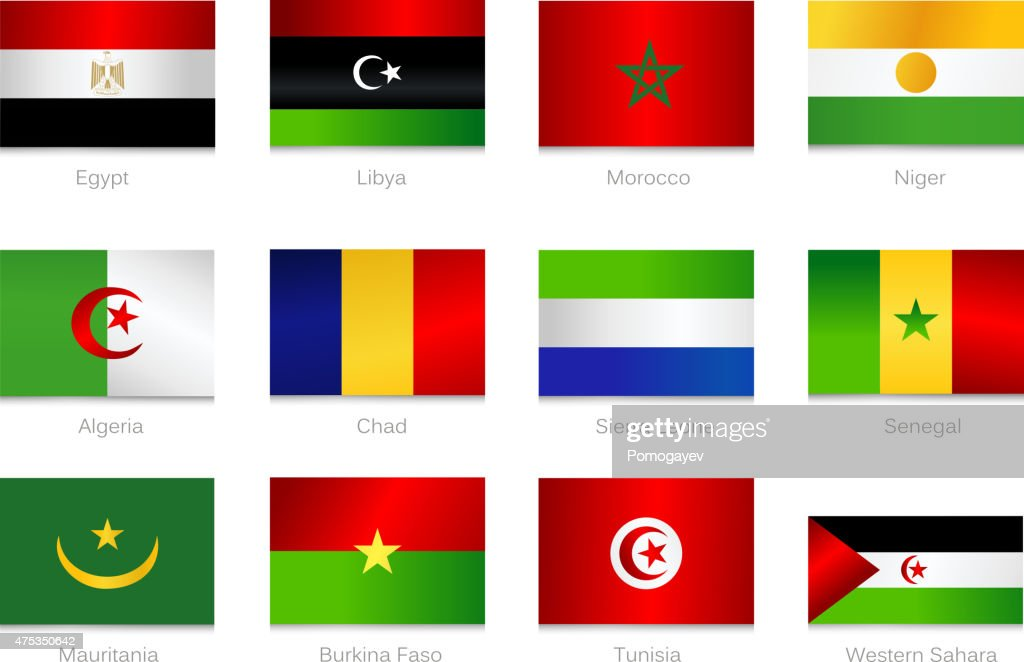 African Flags. Collection part 1