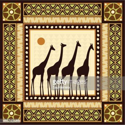 African Frame Scene Vector Art Getty Images