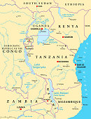 African Great Lakes, political map
