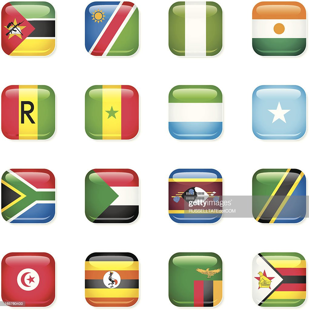 African Icon Flags [B]